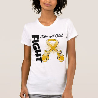 Amber Ribbon Fight Like A Girl Shirts