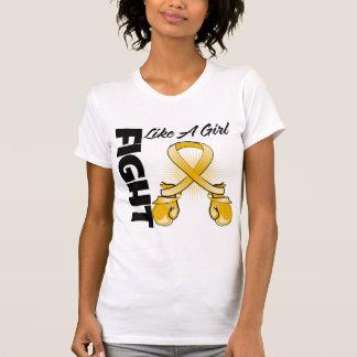Amber Ribbon Fight Like A Girl T-shirt
