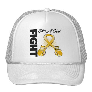 Amber Ribbon Fight Like A Girl Trucker Hat