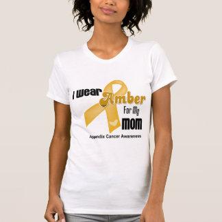 Amber Ribbon For My Mom - Appendix Cancer Tshirt