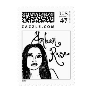 Amber Rose Postage Stamps and Matching Cards