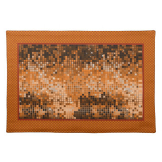 Amber Sequins Look-Disco Ball Pattern Cloth Placemat