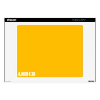 "Amber 14"" Laptop Decal"