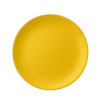Amber Solid Color Customize It Dinner Plate
