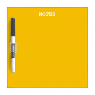 Amber Solid Color Customize It Dry-Erase Board