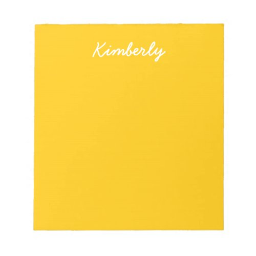 Amber Solid Color Customize It Notepad
