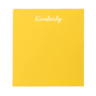 Amber Solid Color Notepad
