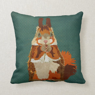 Amber Squirrel Pillow