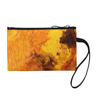 Amber stone texture background coin wallet