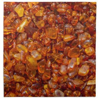 Amber stones cloth napkin