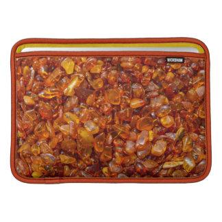 Amber stones MacBook sleeve