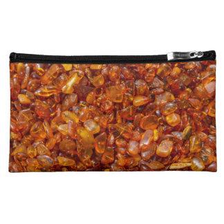 Amber stones makeup bag