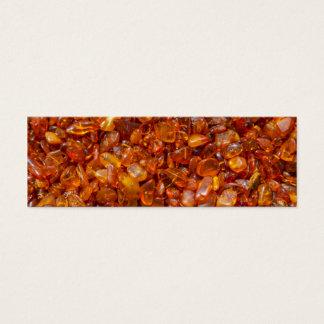 Amber stones mini business card