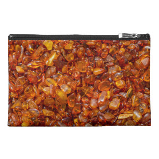 Amber stones travel accessory bag