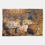 Amber Sunlit Sparkling Stream Towel