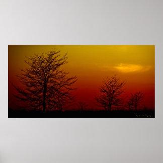 """""""Amber Sunset"""" Beautiful Image Art Canvas Print"""