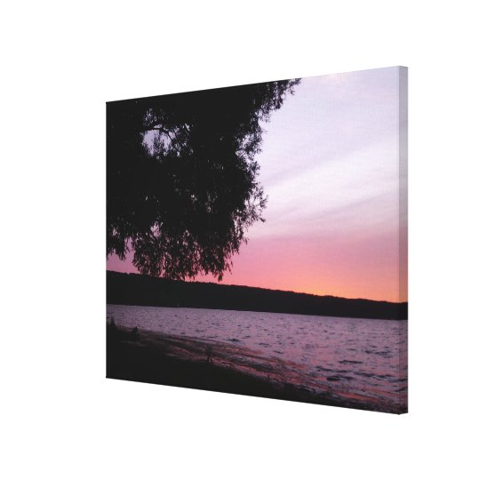 AMBER SUNSET ON CAYUGA LAKE canvas