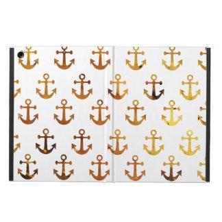 Amber texture anchors pattern iPad air case