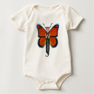 Amber the Monarch Butterfly Baby Baby Bodysuits