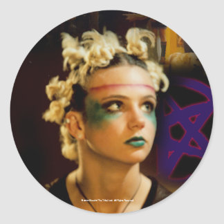 Amber The Tribe Classic Round Sticker