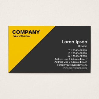 Amber Triangular Corner - Dark Gray Business Card