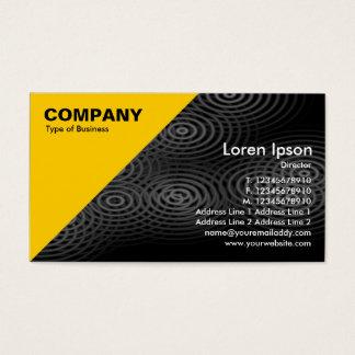 Amber Triangular Corner - Electric Rain Gray Business Card