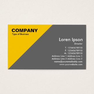 Amber Triangular Corner - Mid Gray Business Card