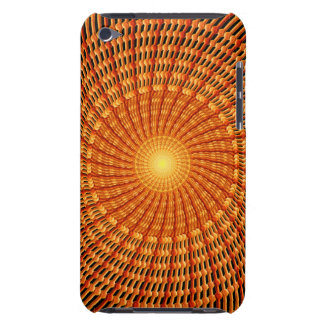 Amber Vortex Mandala Barely There iPod Cover
