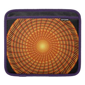 Amber Vortex Mandala Sleeve For iPads