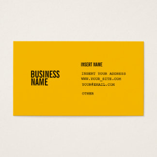 Amber With Columns Condensed Fonts Business Card