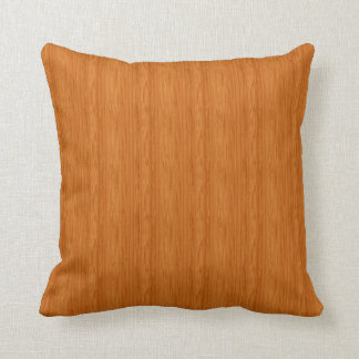 Amber Wood Grain Throw Pillow