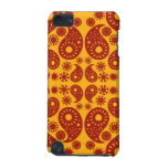 Amber Yellow and Dark Red Paisley. iPod Touch (5th Generation) Case