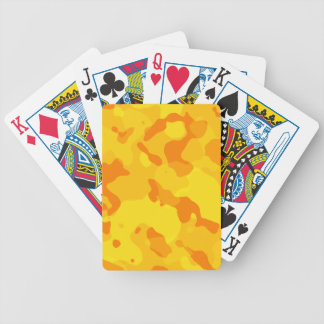 Amber Yellow Camo; Camouflage Bicycle Poker Cards