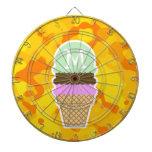 Amber Yellow Camo; Ice Cream Cone Dart Board