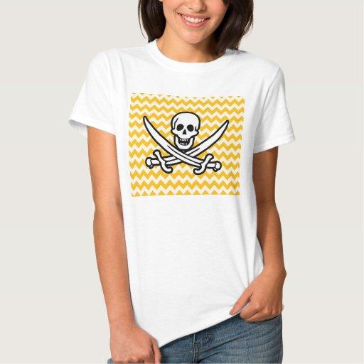 Amber Yellow Chevron; Pirate Shirt