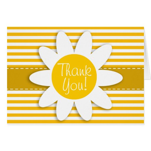 Amber Yellow Stripes; Daisy Card