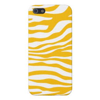 Amber Yellow Zebra Animal Print Cases For iPhone 5