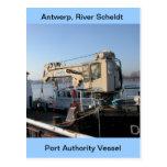 Amberes, buque de apoyo de Escalda 10 Tarjeta Postal
