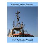 Amberes, buque de apoyo de Escalda 11 Tarjeta Postal