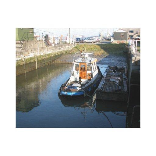 Amberes, buque de apoyo de Escalda 13 Impresión En Lona