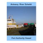 Amberes, buque de apoyo de Escalda 3 Tarjeta Postal
