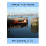 Amberes, buque de apoyo de Escalda 7 Tarjeta Postal