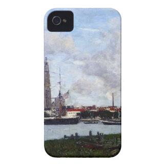 Amberes, el puerto de Eugene Boudin iPhone 4 Case-Mate Fundas