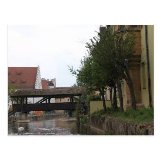 Amberg, Bridge over River Vils Postcard