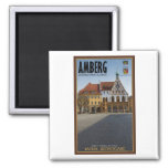 Amberg - Rathaus 2 Inch Square Magnet