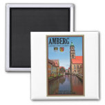 Amberg - Vils River 2 Inch Square Magnet