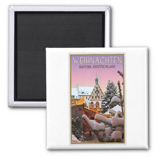 Amberg - Weihnachten Baviera Imanes De Nevera