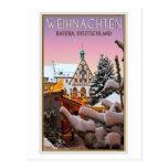 Amberg - Weihnachten Baviera Tarjeta Postal