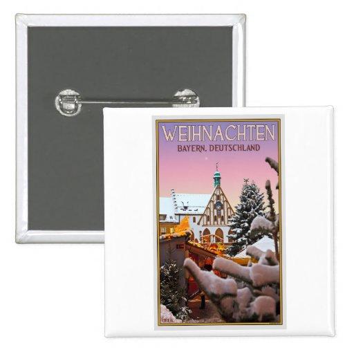 Amberg - Weihnachten Bayern Pinback Button