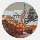 Amberg Weihnachtsmarkt Pegatinas Redondas